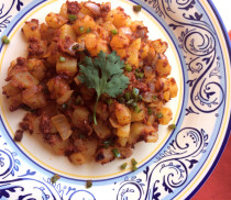 Papas con chorizo from LatinoFoodie