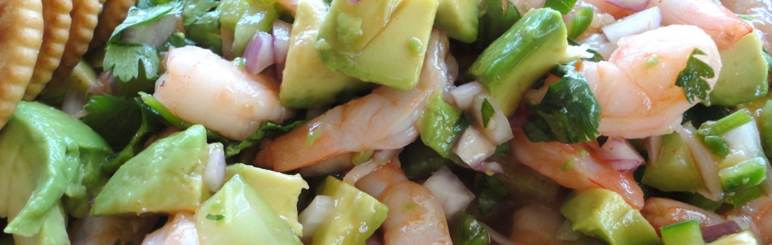 Fiery Shrimp with Avocado
