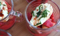 A Recipe to Make Summer Memories with Your Family; Balsamic Strawberries and Honey-Ricotta Cream