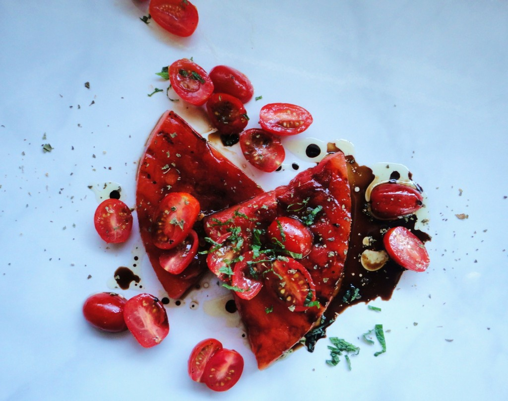 Grilled Watermelon Salad with Balsamic Tomatoes