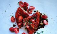 GRILLED WATERMELON SALAD WITH BALSAMIC CHERRY TOMATOES