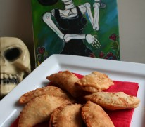 Dia de los Muertos Spicy Chicken and Apple Empanadas