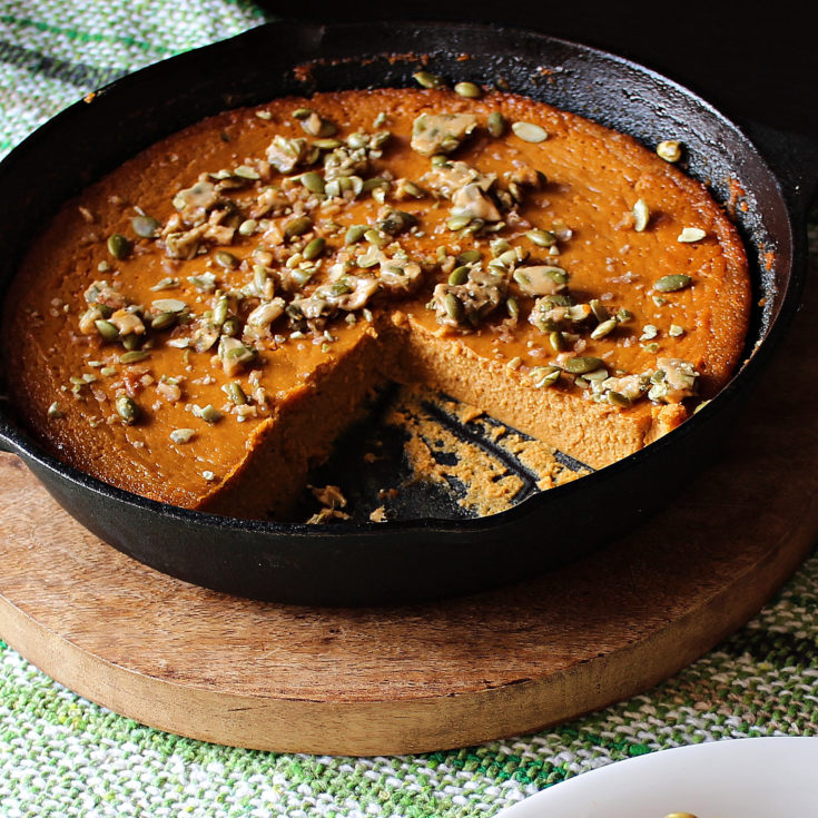 Skillet Pumpkin Custard Pie
