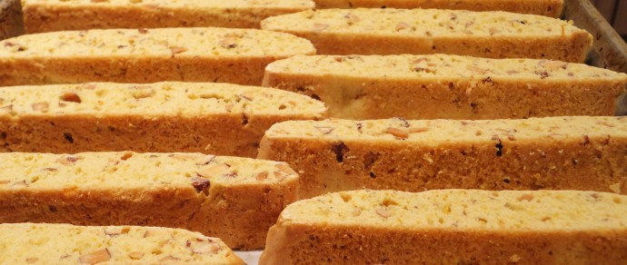 Orange Cranberry Pistachio Biscotti