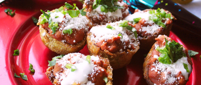 Chorizo and Bean Fried Plantain Cups Will be a Hit on New Year's Eve