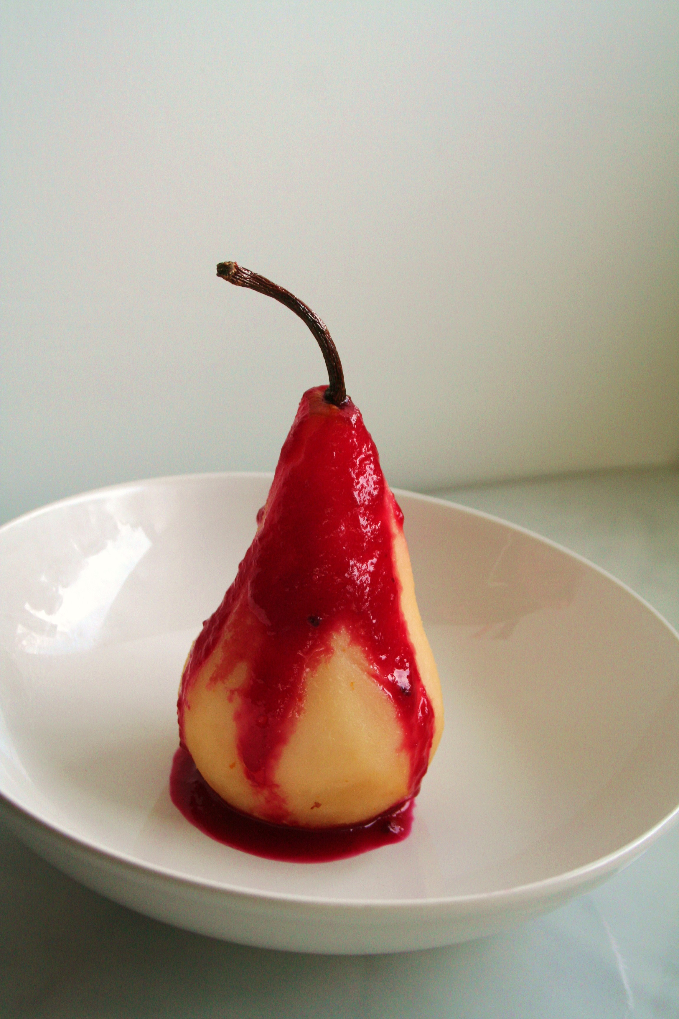 The Perfect Pear: Tequila Poached Pear with a Cactus Pear ...