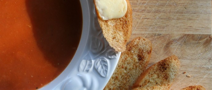 Tomato Bisque with Bacon Crumbles Recipe
