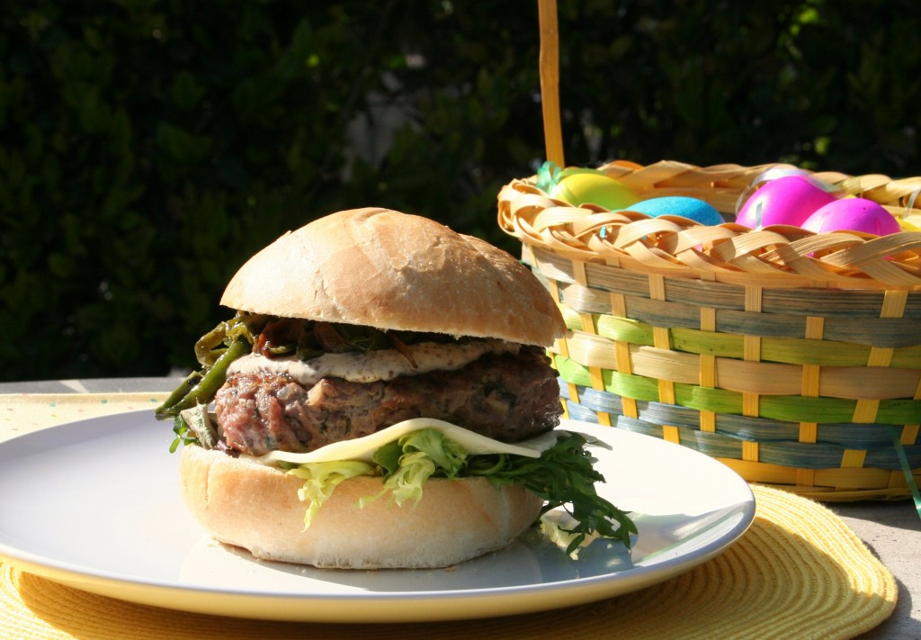 Lamb Burger with Rajas Poblanas