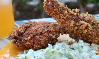 AH, FRIED PORK RINDS HOW WE LOVE THEE! Fried Chicken Recipe with A Chicharron Crust