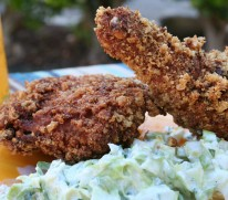 Fried chicken with chicharron crust