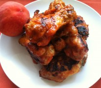 Peachy Sriracha Hot Wings