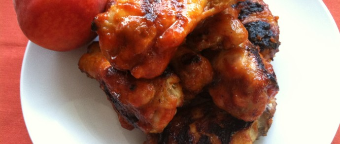 Peach Sriracha Hot Wings