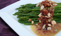 Simple Savory Side: Asparagus with Warm Bacon Shallot Vinaigrette