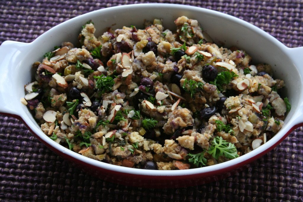 Blueberry and Almond Stuffing