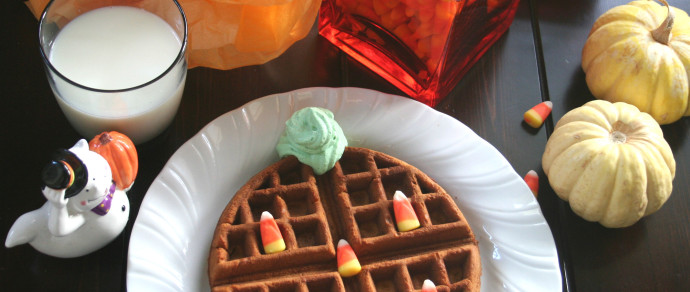 Pumpkin Waffles with Whole Milk