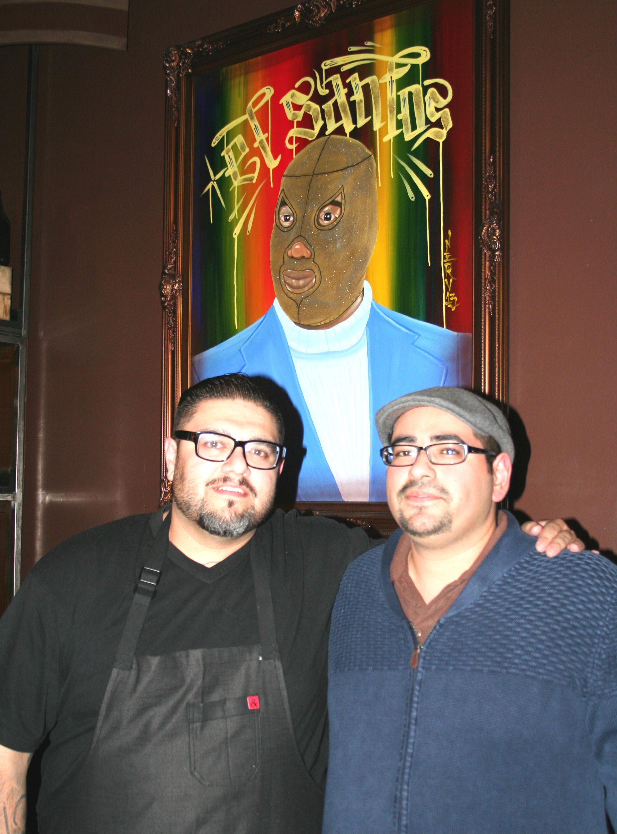 Chef Ortega with Art Rodriguez