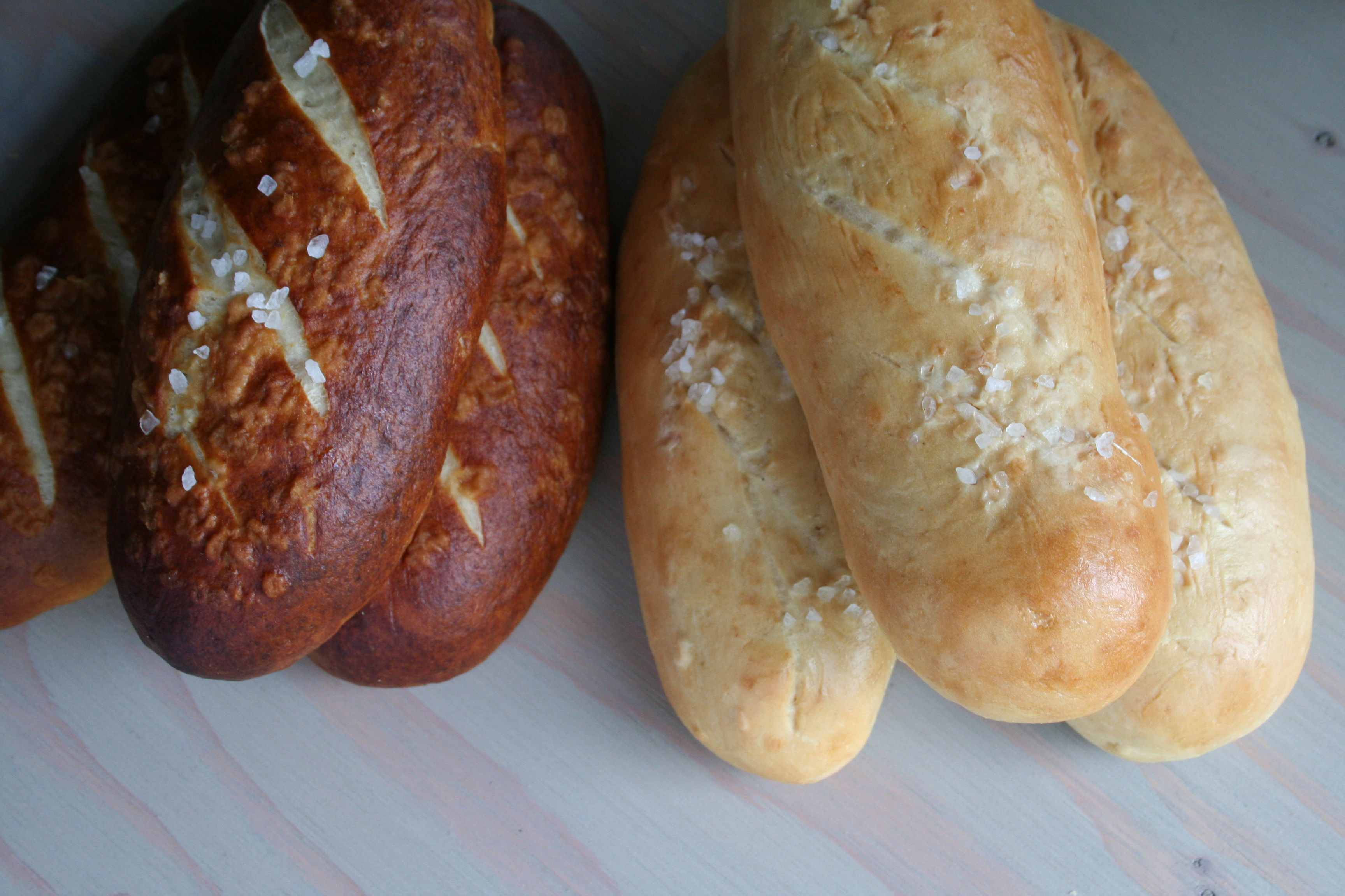 Pretzel BRead and Non-Pretzel Bread
