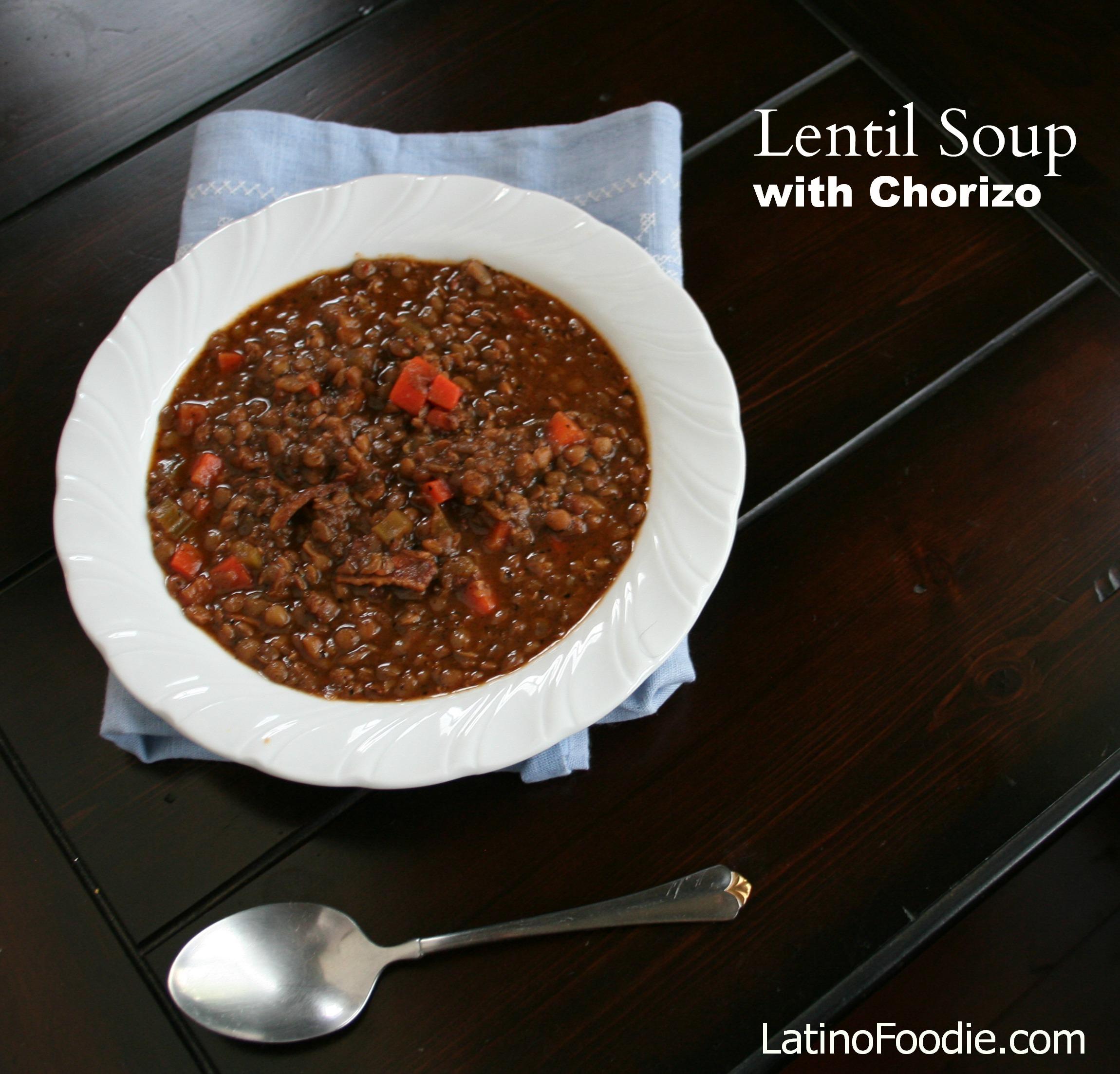 Lentil soup with chorizoFINAL
