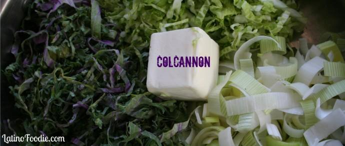 Traditional Irish Colcannon, A Creamy Mashed Potato with Kale