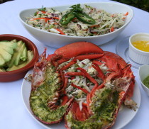 Baja Jicama Slaw with Lobster and Cilantro Citrus Butter