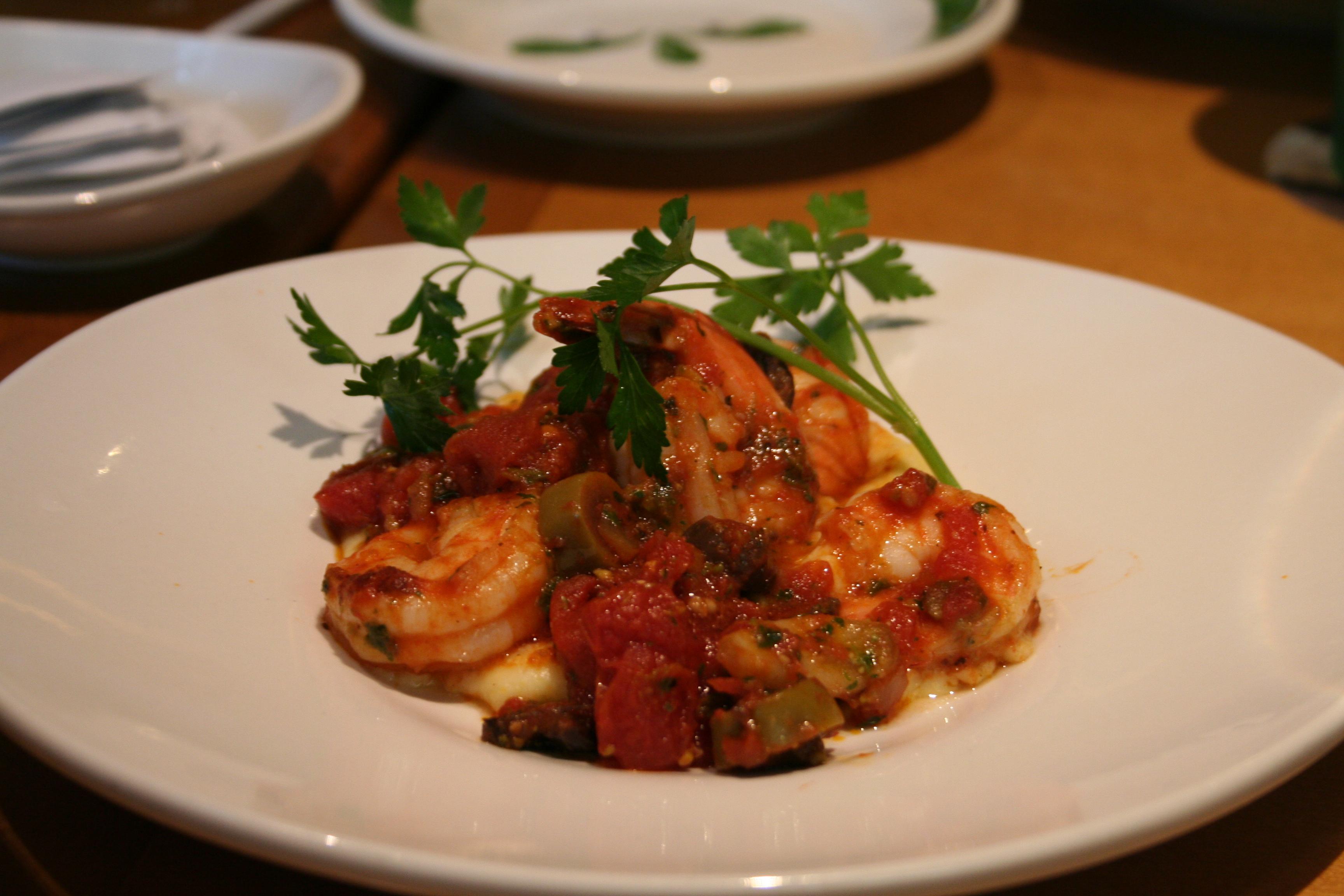 •Polenta Shrimp alla Greca