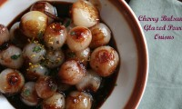 Darling, have you seen my pearls? Cherry Balsamic Glazed Pearl Onions