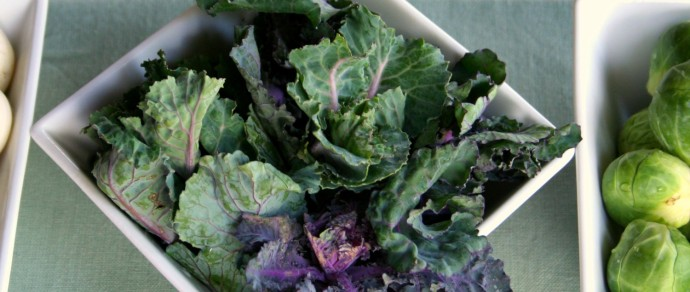 WORKING WITH WHAT'S IN SEASON NOW: KALE & BRUSSELS SPROUTS