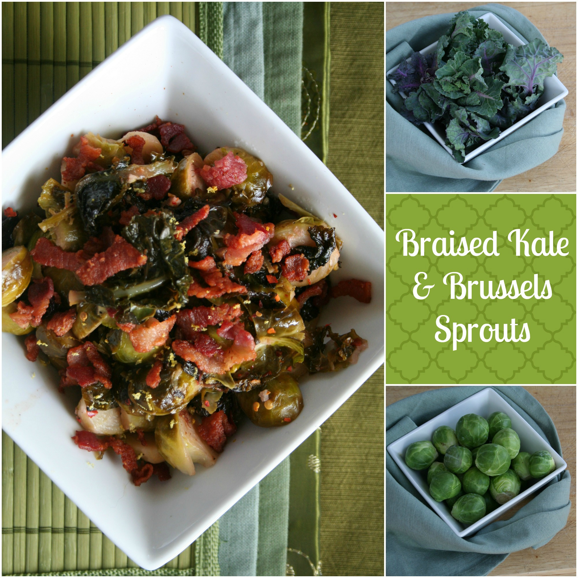 Briased Kale & Brussels Sprouts