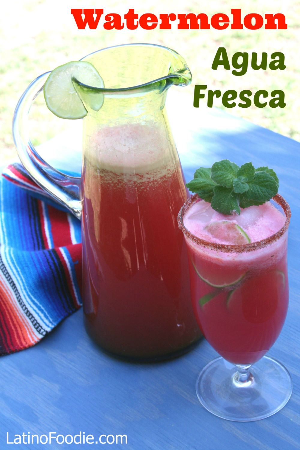 Watermelon Agua Fresca Recipe — Dishmaps