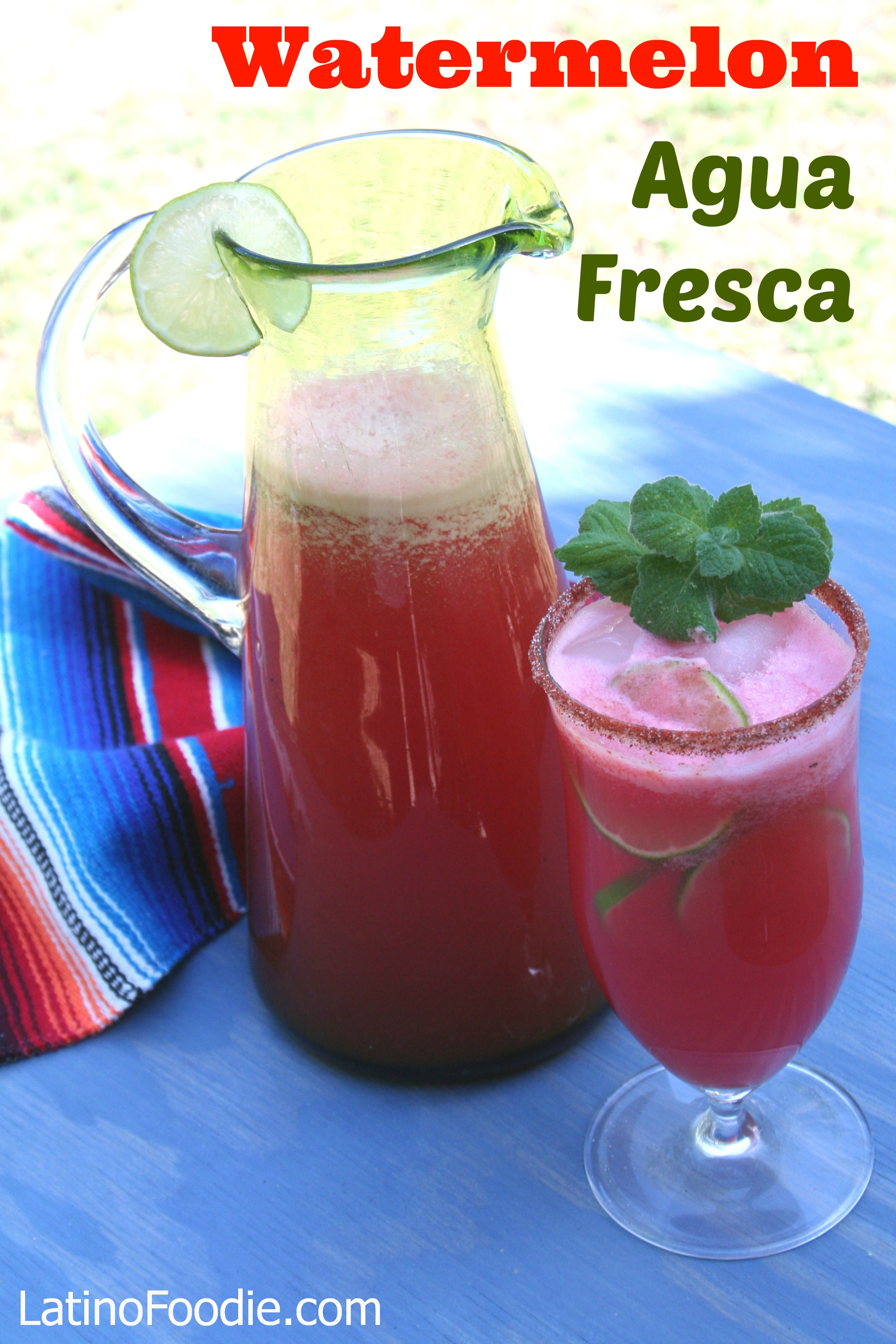 Watermelon Agua Fresca with Text - Latino Foodie
