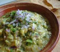 Grilled Tomatillo Guacamole by LatinoFoodie.com