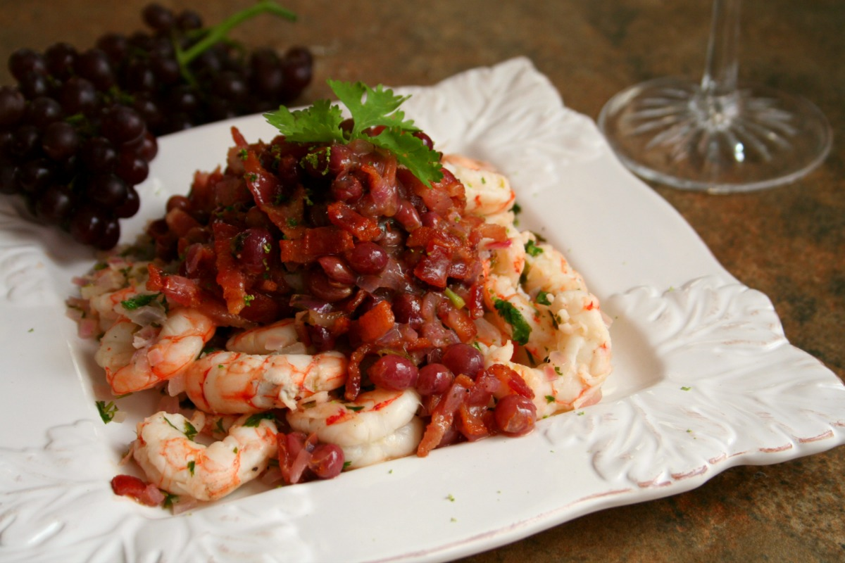 Sautéed Shrimp with a Shallot and Champagne Grape Chutney