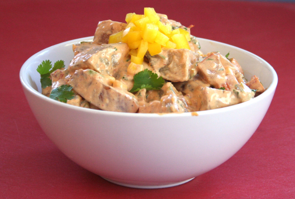 Chipotle Potato Salad with Grilled Sausage