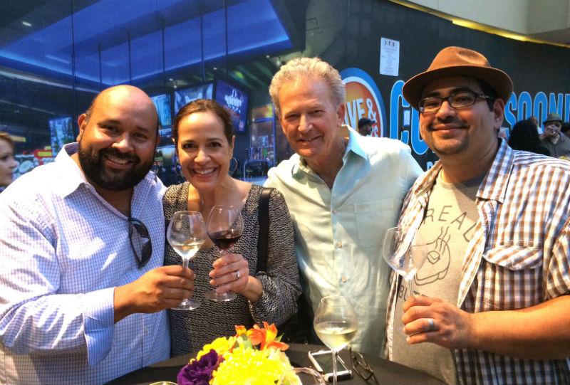 Getting wine tutorials from Senorita Vino Pamela Pajuelo and her husband, Jim.