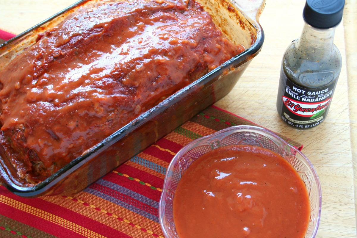 Pasilla Meatloaf with El Yucateco Black Label Reserve Hot Sauce