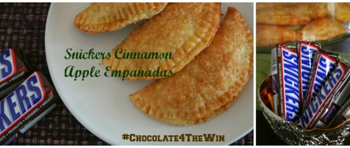 CHOCOLATE FOR THE WIN: SNICKERS® CINNAMON APPLE EMPANADAS