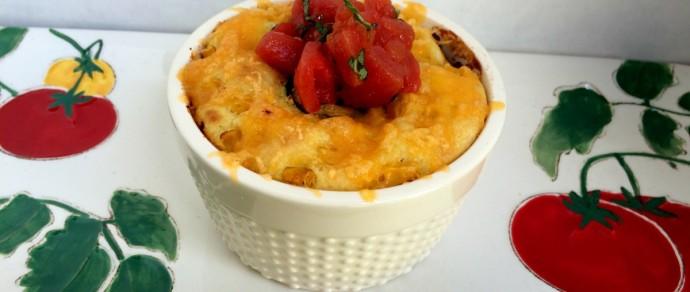 Hunt's Tomato Chili Bean Casserole with Corn Bread Topping #FlavorServed
