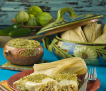 Chile Verde Pork Tamales with Herdez