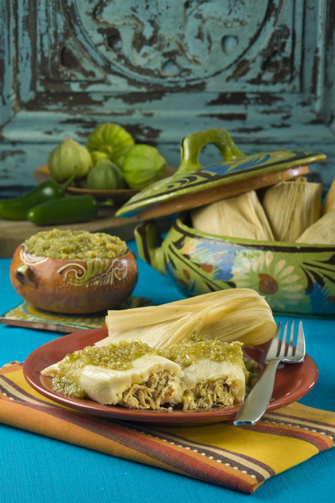 Chile Verde Pork Tamales with Herdez