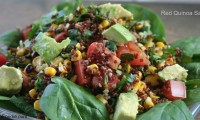 WORKING WITH ANCIENT GRAINS — RED QUINOA SALAD WITH AVOCADO AND GRILLED CORN