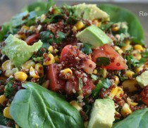 Red Quinoa Salad from LatinoFoodie.com