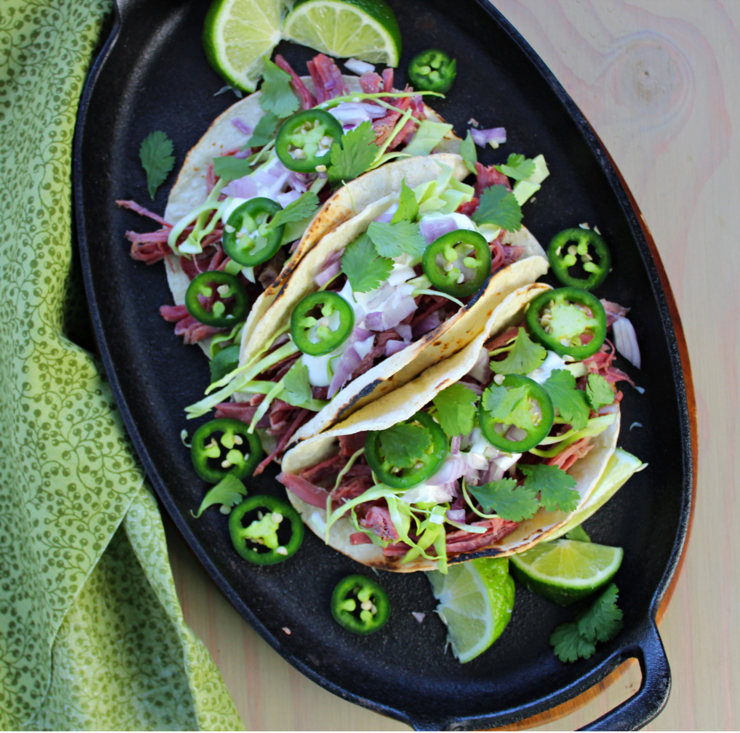 Platter of Corned Beef Tacos by Latinofoodie