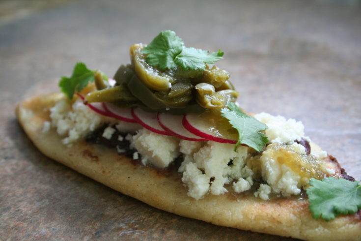 Black Bean Tlacoyos made with Cotija cheese