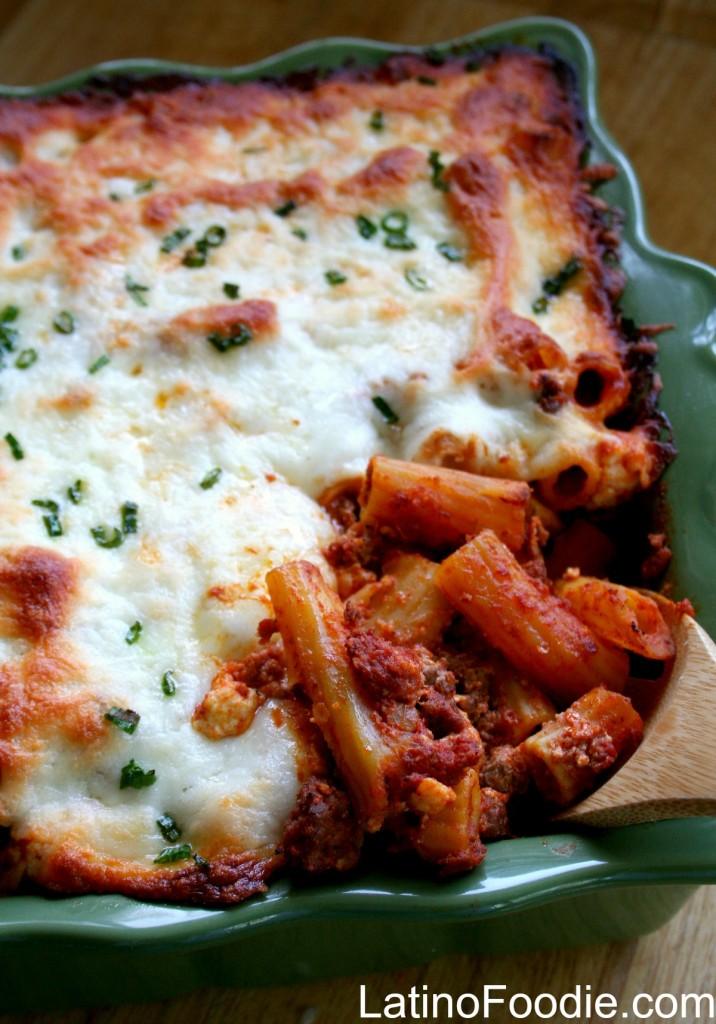 Chorizo Beef Pasta Casserole LatinoFoodie