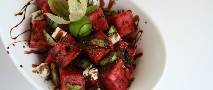 RIDE THE HEATWAVE INTO SUMMER WITH THIS WATERMELON &TOMATILLO SALAD