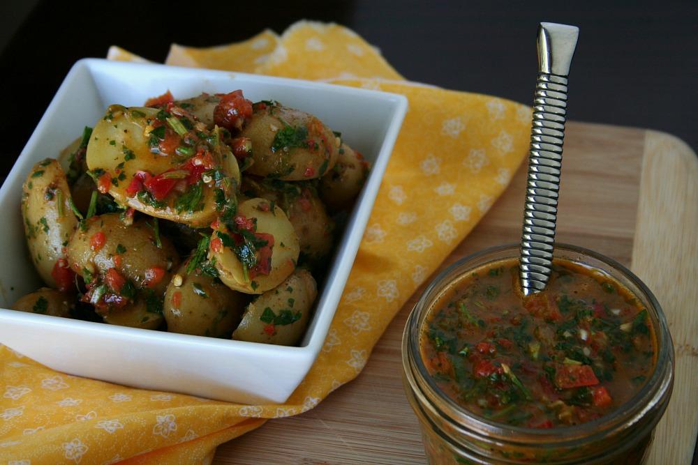 Idaho Potatoes Red Chimichurri Potato Salad 3