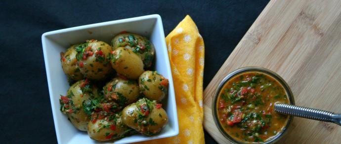 Summer of the Potato Salad: Red Chimichurri Potato Salad