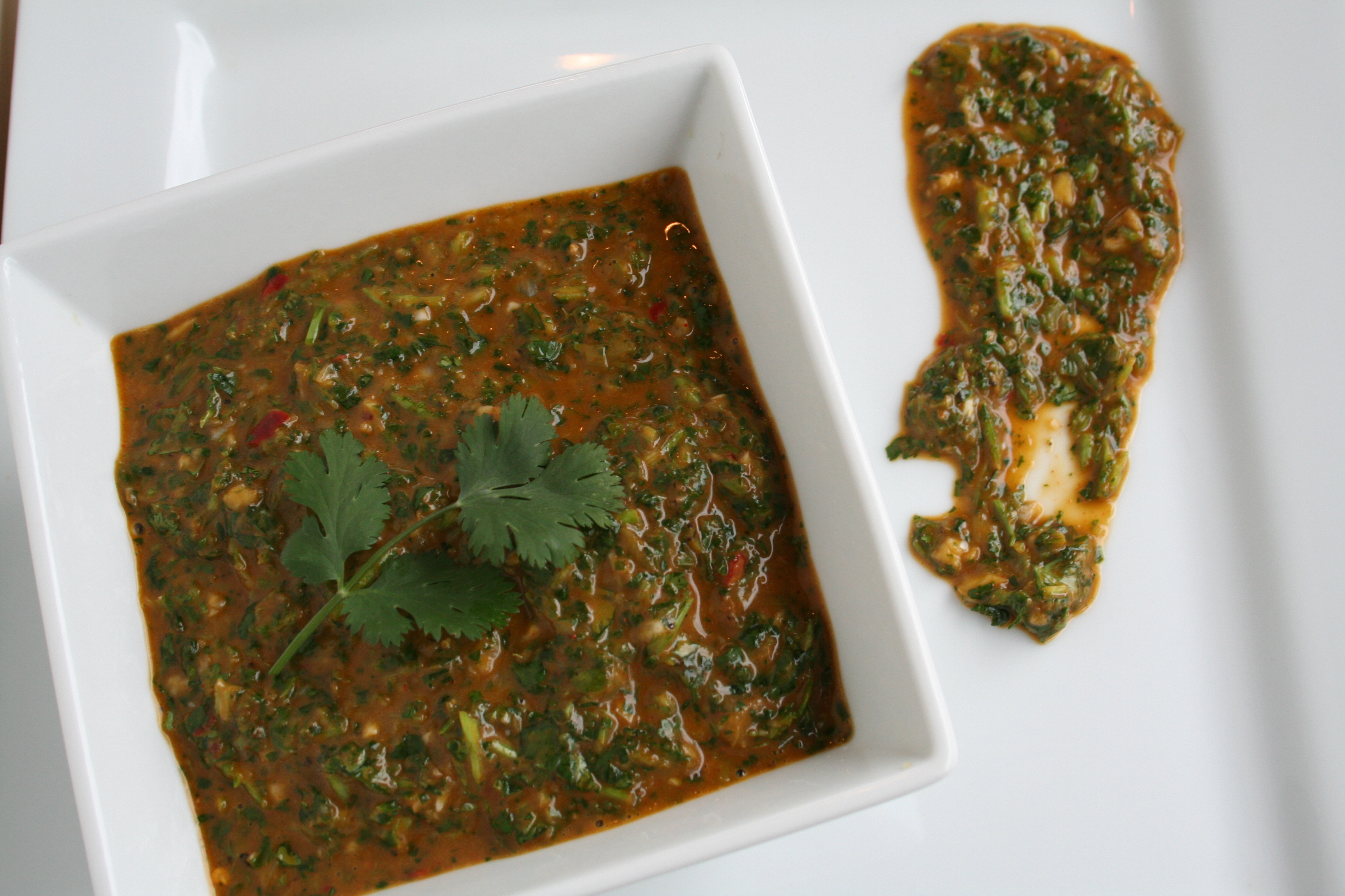 Grilled Salmon with Red Chimichurri
