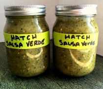 Hatch chile verde in mason jars