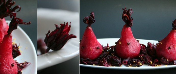Recipe: Flor de Jamaica Poached Pears